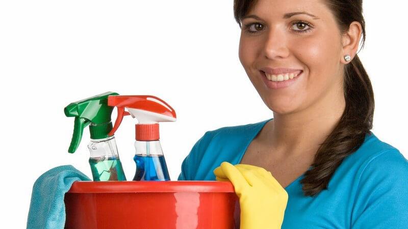 Hinweise und Tricks für schlierenfreies Fensterputzen mit speziellen Reinigern oder Essigwasser und Zeitungspapier