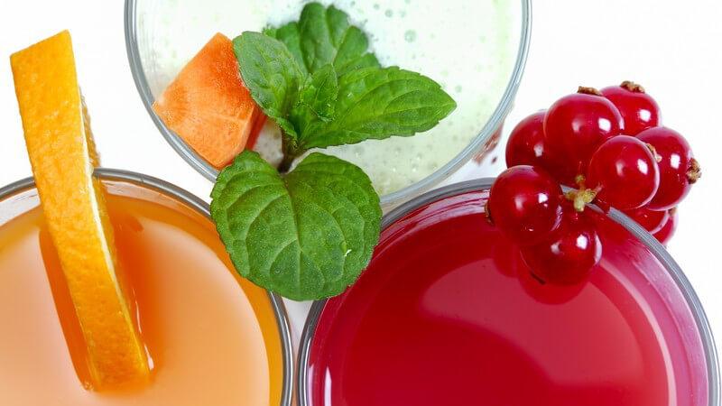 Zahlreiche Säfte können auch miteinander gemischt und z.B. in Cocktails verwendet werden