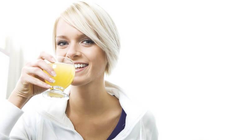 Wichtig sind sowohl gesunde Inhaltsstoffe, als auch eine ausreichende Trinkmenge
