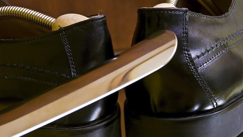 Schuhlöffel aus Metall
