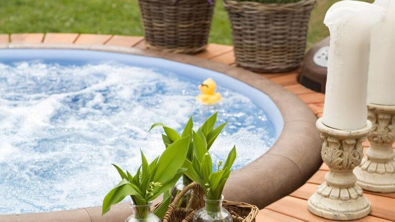 Wir verraten Ihnen, welchen Badezusatz man in einem Whirlpool bedenkenlos verwenden kann
