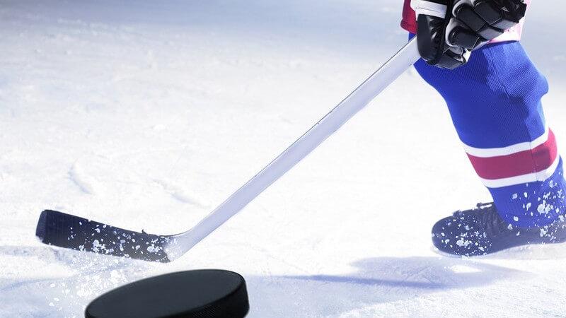 Größe und Form eines Eishockeyschlägers