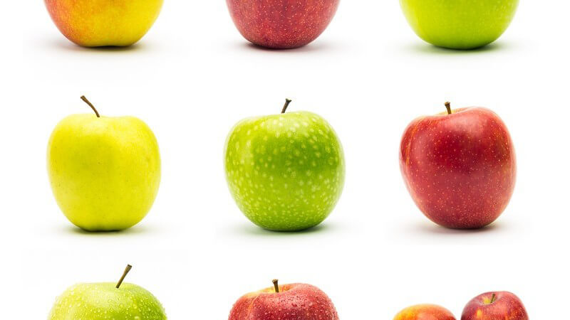 Zu den beliebtesten Apfelsorten zählen mitunter Gala, Jonagold sowie Braeburn