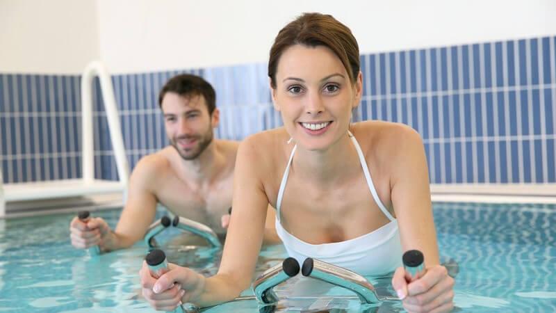 Das Aqua-Biking zum gelenkschonenden Fitnesstraining