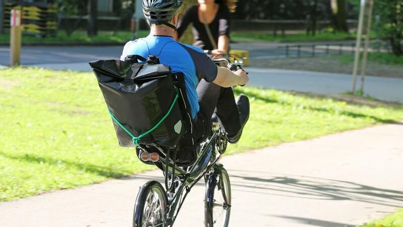 Radfahren auf Liegerädern