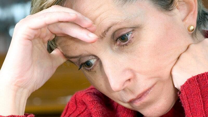Die Gedanken der Betroffenen kreisen meist um negative Themen wie z.B. Hoffnungslosigkeit