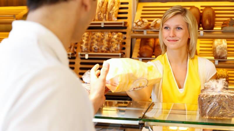Einkaufen und/oder schlemmen beim Bäcker und Konditor