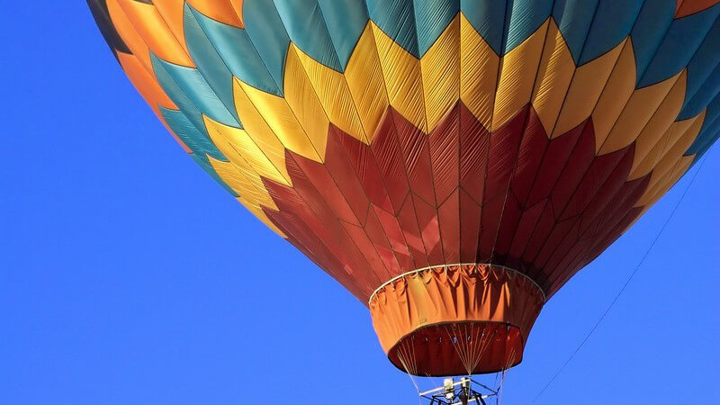 Wie man sich auf einer Ballonfahrt richtig verhält