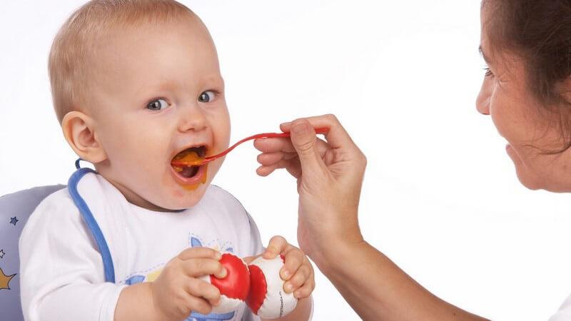 Wichtige Inhaltsstoffe für die Babynahrung nach dem Abstillen - Babybrei kann man fertig kaufen oder mit wenigen Zutaten auch selbst kochen