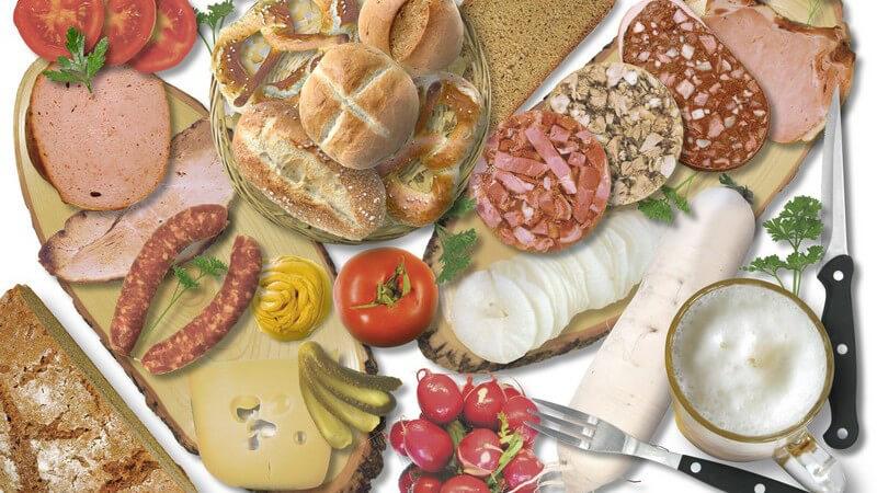 Ziel und Zweck der sechs Stufen der Ernährungspyramide, Grundlagen einer abwechslungsreichen Ernährung und typische Gerüchte um Lebensmittel