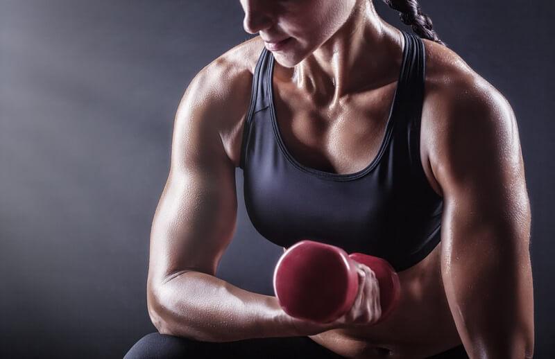 Muskulöse frau treffen
