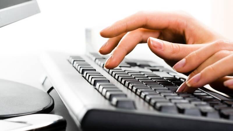 10-Finger-System und Tipps zum schnelleren Schreiben auf der Tastatur