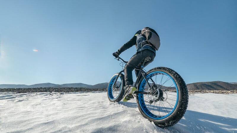 Mountainbiking im Winter