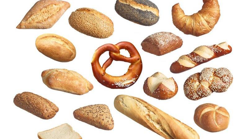 Zu den unterschiedlichen Brötchensorten zählen z.B. Butterhörnchen, Croissants, Vollkornbrötchen, Kartoffelbrötchen, Weizenbrötchen, Roggenbrötchen und Schwedenbrötchen