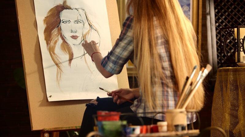 Ein Portrait zählt mit zu den anspruchsvollsten Themen im Bereich der Malerei; die richtigen Proportionen und individuelle Merkmale sind besonders wichtig