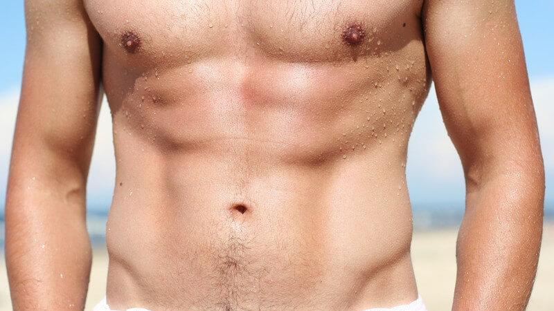 Den V-Muskel im unteren Bauchbereich formen