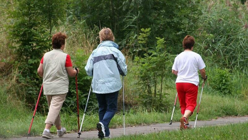 Nordic Walking aktiviert das Herz-Kreislaufsystem, trainiert die Muskeln und schont die Gelenke