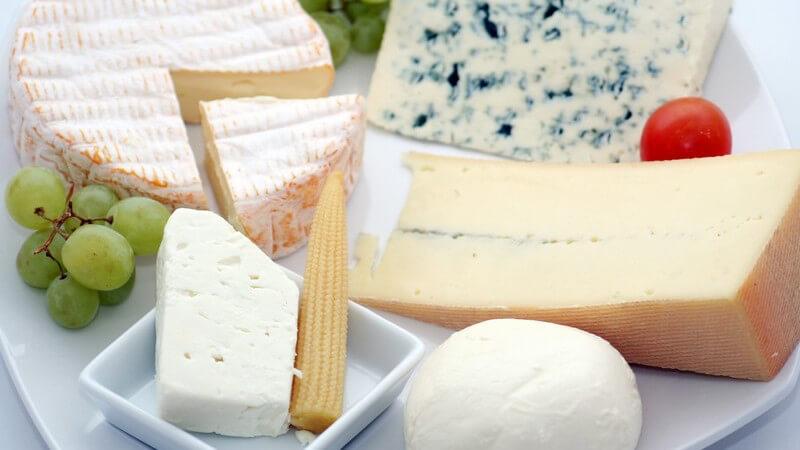Zu den beliebtesten Käsesorten zählen z.B. der Brie, der Gouda sowie der Edamer
