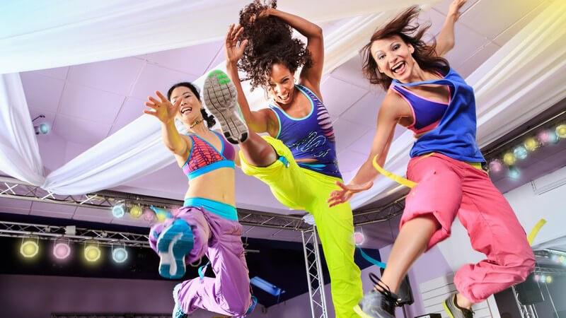 Körpertraining mit Musik und Choreographie