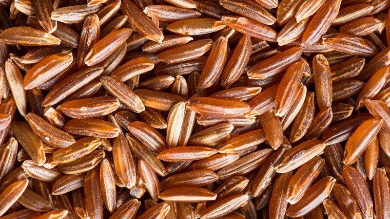 Roter Reis schmeckt recht nussig