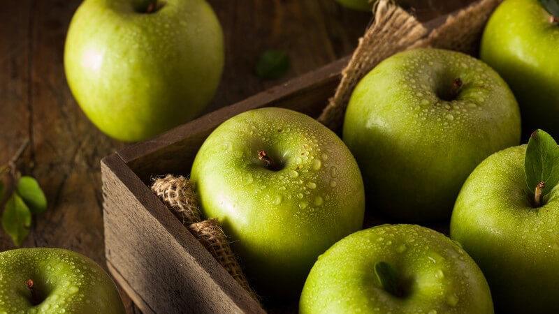 Äpfel der Sorte Granny Smith sind nicht unbedingt zum direkten Verzehr zu empfehlen