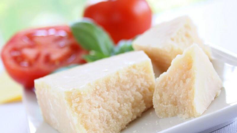 Der Parmesan  wird besonders gerne mit Nudelgerichten kombiniert