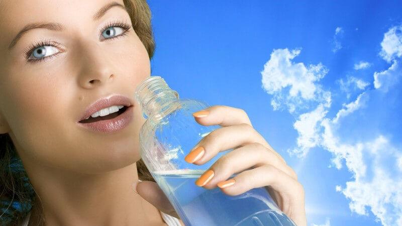 Die meist genutzten Kunstoffflaschen sind PET-Flaschen