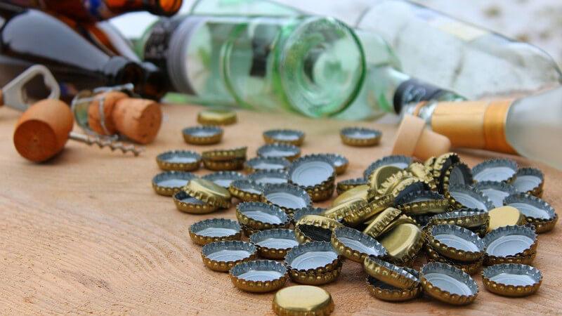 Kronkorken sind hierzulande vor allem bei Bierflaschen sowie kleinen Flaschen mit Erfrischungsgetränken bekannt