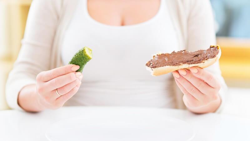 Informationen zum Konsum von gesunden und ungesunden Fetten sowie Zucker während der Schwangerschaft