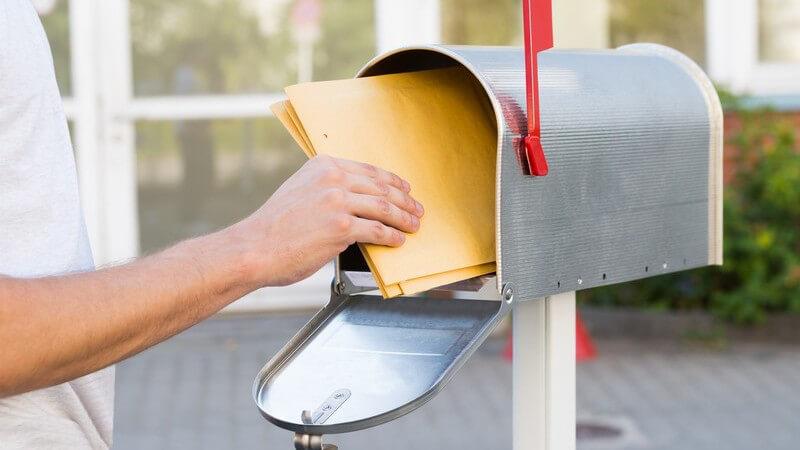 Porto, Gewicht und Größe für Kompaktbrief und Großbrief