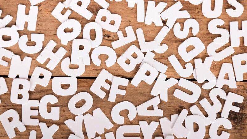 Sich bestimmte Wörter mithilfe des Alphabets merken