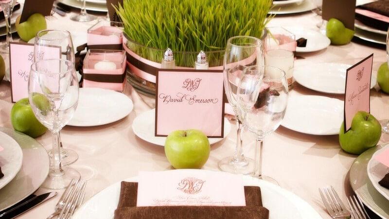 Der perfekt dekorierte Tisch zu jedem Anlass