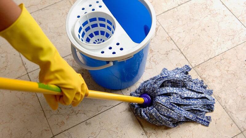 Den Fußboden gründlich reinigen