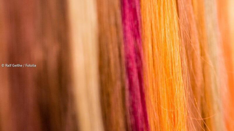Strähnchen braune haare rote Braune Strähnchen
