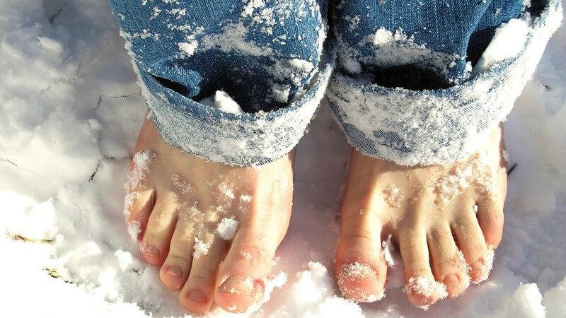 Das Schneegehen zur Stärkung des Immunsystems