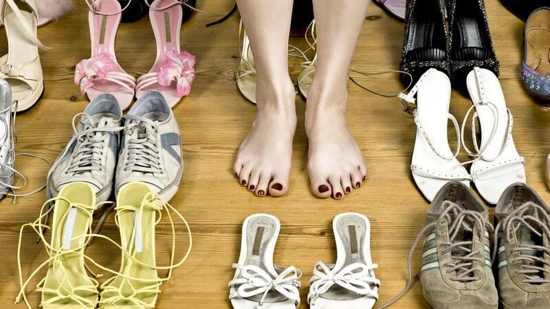 Unangenehme Gerüche aus dem Schuhschrank entfernen