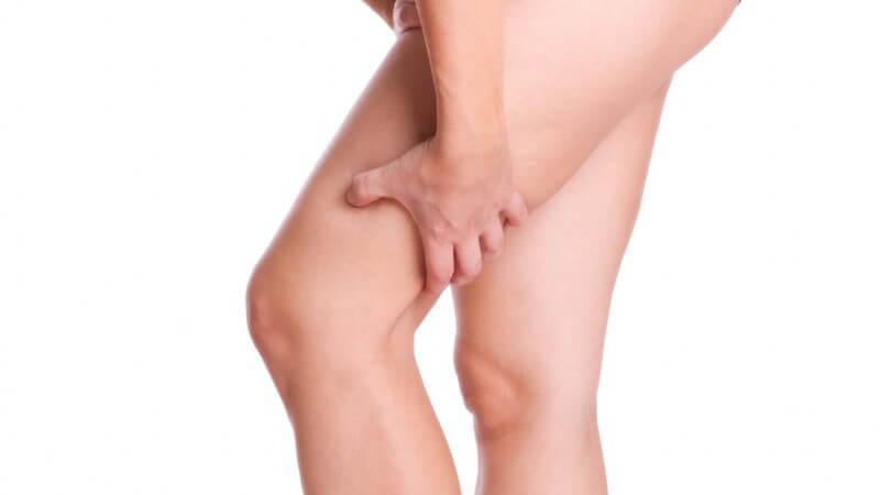 Das menschliche Bein wird in die Abschnitte Oberschenkel, Unterschenkel und Fuß eingeteilt