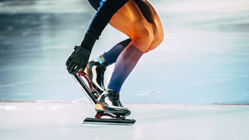 Eisschnellläuferin