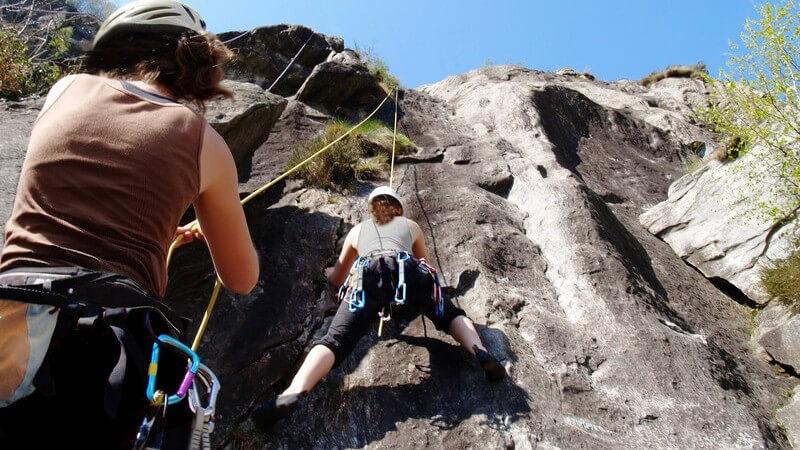 Klettern mit Kletterführer