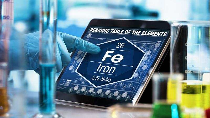 Bei Eisen (Fe) handelt es sich um ein wichtiges Spurenelement